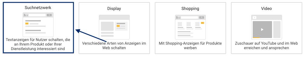Google Ads Suchnetzwerk-Kampagne
